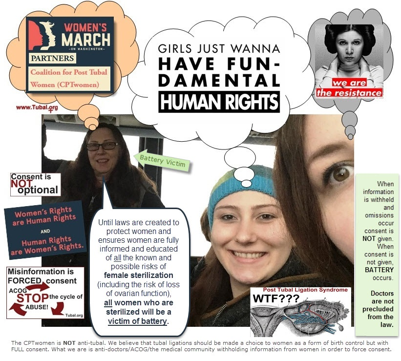 WMW Women's March on Washington 2017 tubal.org CPTwomen side effects of tubal ligation essure