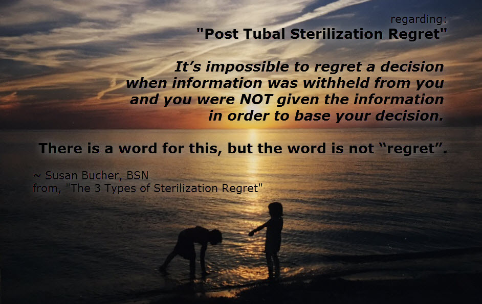 "The 3 Types of Sterilization ""Regret"" - tubal ligation, Essure, Filshie clips, PTLS"